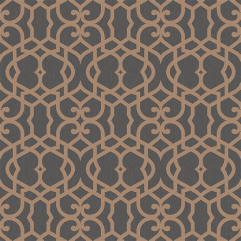 marrakech chocolate fretwork textured wallpaper