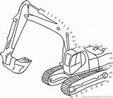 Truck Connect Construction Pages Dot Dots Digger Coloring Jcb Printable Colouring Trucks Print Worksheet Tractor Toddlers Excavator Pdf Transporation Preschool sketch template
