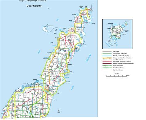 door county wisconsin map bike milwaukee to door county