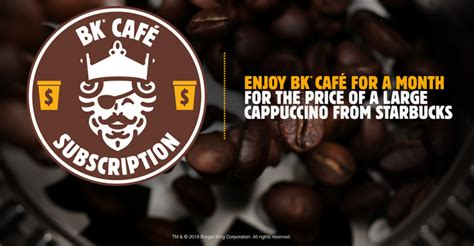 Available only through burger king's app, the subscription provides members one small hot coffee per day. Burger King perks up coffee game with $5 monthly ...
