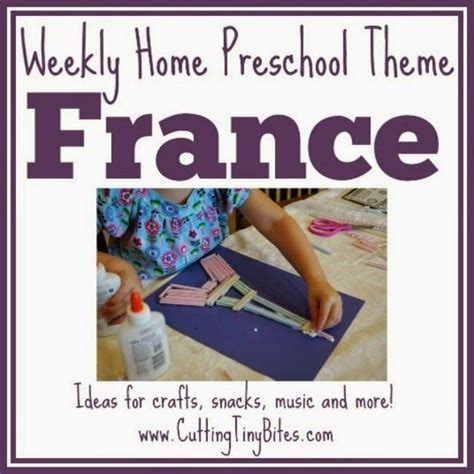 france  french culture theme weekly home preschool