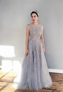gray blue lace wedding dress With blue lace wedding dress