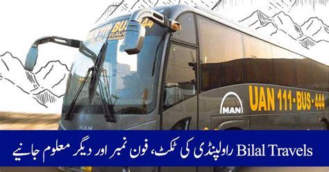 bilal travels rawalpindi contact number  booking