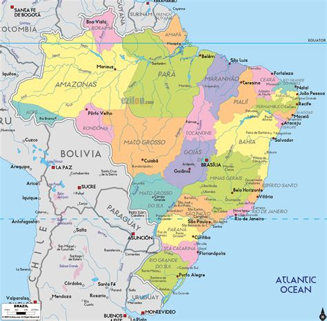 maps  brazil map library maps   world
