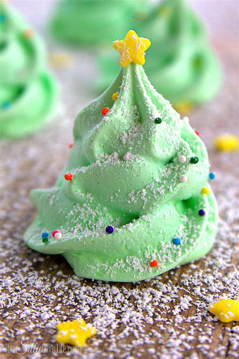 christmas tree meringue cookies this silly girl s life