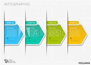 Vector Graphic  Flow Chart  4-step Process