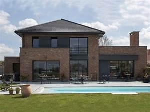 pouwels hab jardin maison semi cubique briques architek With plan de maison cubique 6 maisons cubiques architecture et tradition
