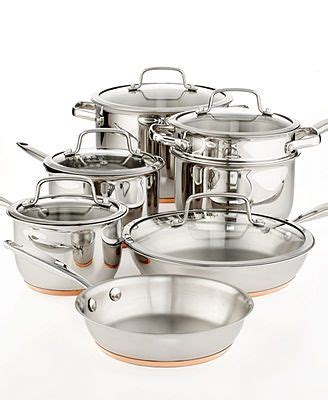 martha stewart collection copper accent cookware  piece set cookware set cookware set