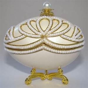 Boite A Bijoux Originale : boite bijoux oeuf en coquille inspiration faberge ~ Teatrodelosmanantiales.com Idées de Décoration