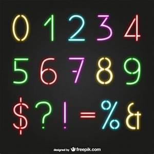 Numerals Vectors s and PSD files