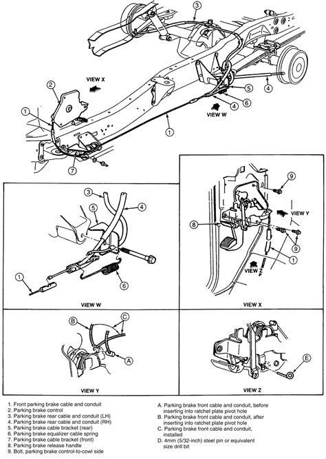 Install Brake Diagram 1987 Nissan Maxima Undercarriage by Repair Guides Parking Brake Cable Autozone