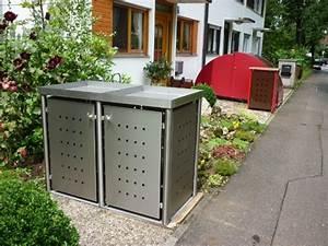 Mülltonnenbox Holz Anthrazit : m lltonnenbox edelstahl ~ Whattoseeinmadrid.com Haus und Dekorationen
