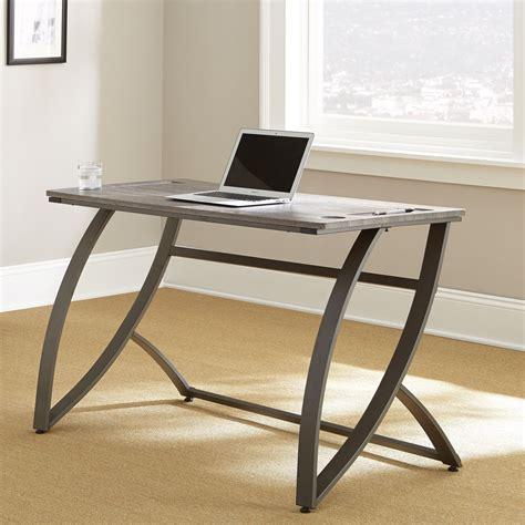 """Hatfield Ultrasleek Minimalist 54"""" Desk In Driftwood Grey"""