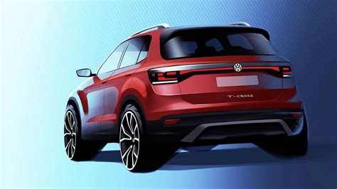 2019 Volkswagen Cross by 2019 Vw T Cross Teased For The Time