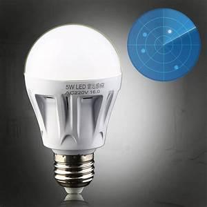 5w e27 led pir motion sensor detection lamp warm white With outdoor lighting with night sensor