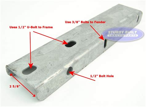 Boat Fender Mounts by Boat Trailer Galvanized Fender Mounting Bracket Step Pad