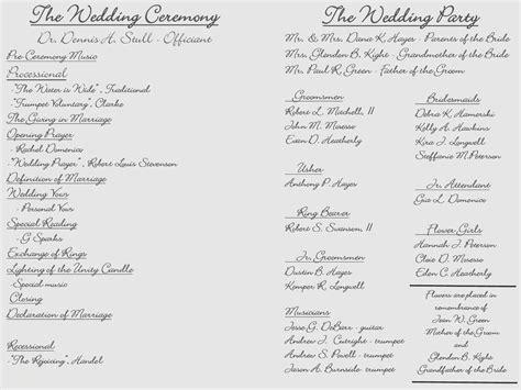 luxury  tri fold wedding program templates creative