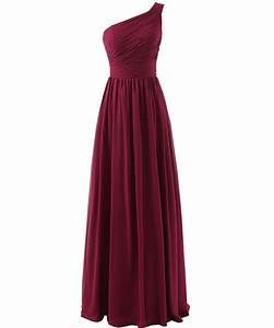 Beautiful marsala burgundy bridesmaid dress one shoulder for Maroon dresses for wedding