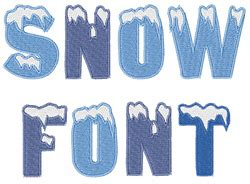 Snow Covered Letters by Snow Font By Embroidery Patterns Home Format Fonts On