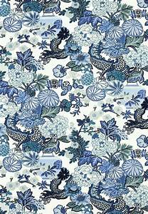 Accessories: Captivating Blue Floral In White Fabric For ...