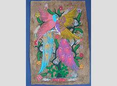 Amate Bark Painting Mexican Folk Art Latin Mexican