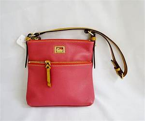 dooney bourke purse letter carrier dark pink leather With leather letter carrier bags