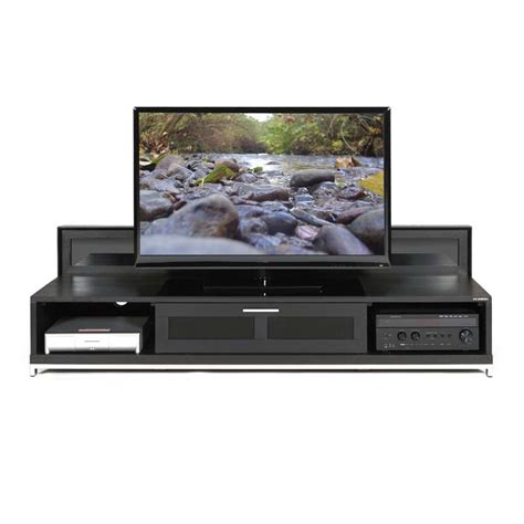 tv stand 80 inch plateau valencia series backlit modern wood tv stand for