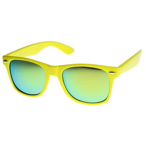 colorful sunglasses retro bright horn rimmed sunglasses with colorful mirrored