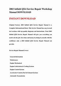2003 Infiniti Qx4 Service Repair Workshop Manual Download