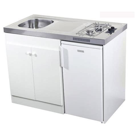mini cuisine pour studio kitchenette gaz blanc h 92 5 x l 120 x p 60 cm