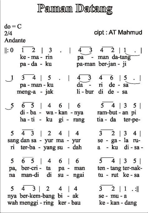 kasih ibu not angka not angka lagu anak anak indonesia lhia 39 s notes
