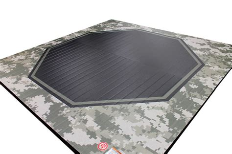 Mma Mats - mma octagon liteweight mat with camouflage pattern
