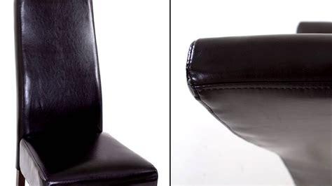 cuir pour recouvrir chaises beliani chaise de salle à manger en cuir empire brun fr