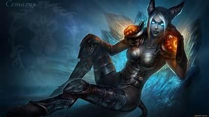 Demon Female Wallpapers Warcraft Wallpapersafari