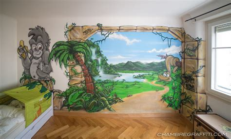 chambre graffiti chambre deco graffiti jungle chambre graffiti