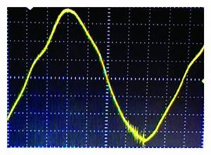 Typical waveform representation on the oscilloscope ...