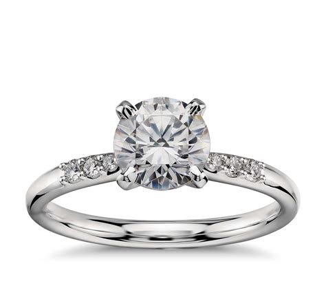 1 carat preset diamond engagement ring in platinum blue nile