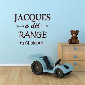 Range Ta Chambre : sticker jacques a dit range ta chambre pas cher ~ Melissatoandfro.com Idées de Décoration