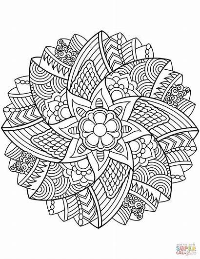Mandala Ausmalbilder Blumen Mandalas Ausmalbild Coloring Coloriage