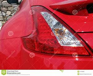 Red Car Back Lights Stock Photo