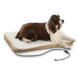 comfort ease large heated pet bed  kennels beds  sportsmans guide