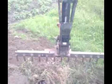 home  rake  mini digger wmv youtube