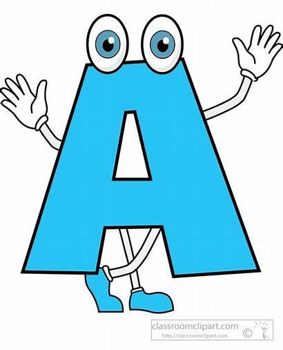 Letter Cartoon Alphabet Clipart Alphabets Animated Letters