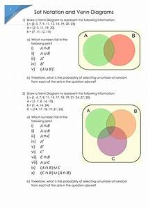 Venn Diagrams - Probabilities From Set Notation  By Gemmaroberts91 - Teaching Resources
