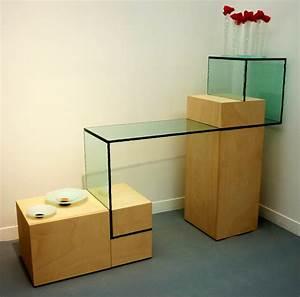 Bibliothèque En Verre : design mobilier n barondeau ~ Teatrodelosmanantiales.com Idées de Décoration