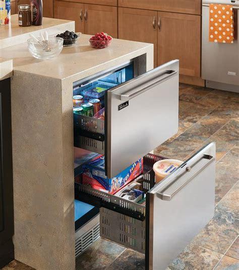 refrigerator undercounter freezer kitchen kitchens modern drawers counter refrigerators drawer under island must outdoor built homedit cooler wine refrigeration zone