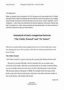 Example Of A Thesis Statement For An Essay William Wordsworth Essay In English Dictionary Music Essay Writing Thesis Statement Examples For Narrative Essays also Apa Sample Essay Paper William Wordsworth Essay Anthem Essay Contest Tables Turned By  Write My Essay Paper