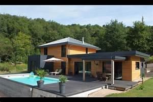 Maison Bois Contemporaine : maison ossature bois top maison ~ Preciouscoupons.com Idées de Décoration