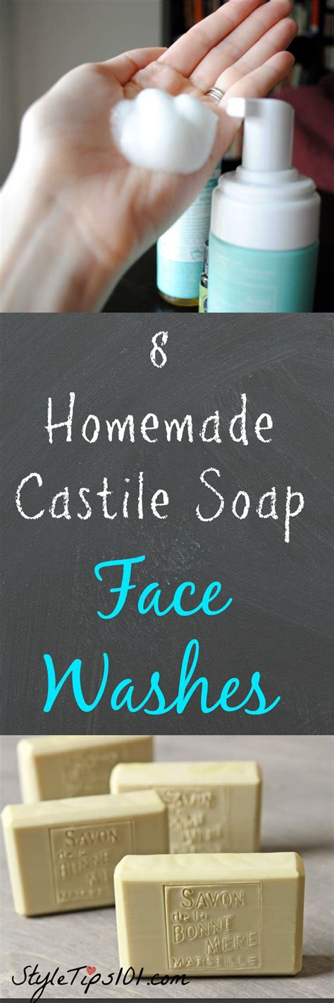 8 Homemade Castile Soap Face Wash Recipes