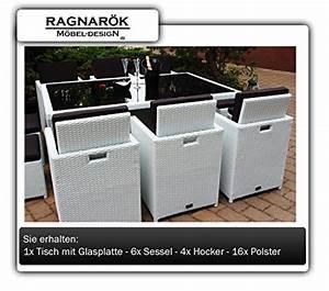 Polyrattan Stuhl Weiß : gartenm bel polyrattan essgruppe tisch mit 6 st hlen 4 ~ A.2002-acura-tl-radio.info Haus und Dekorationen